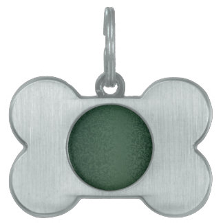 Rich Emerald Green Pet Name Tag