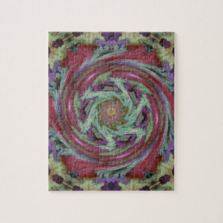 Rich Fall Toned Artistic Spiral Abstract Jigsaw Puzzle