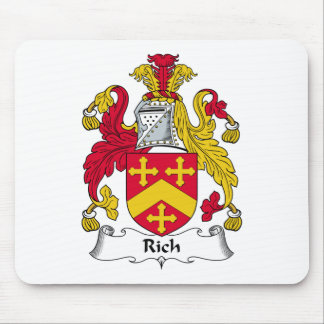 Rich Family Crest Mouse Pad