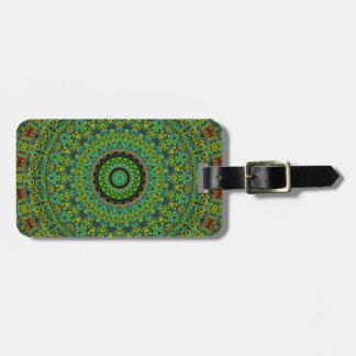 Rich Green Fairy Land Mandala Luggage Tag