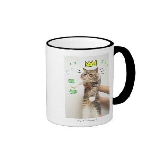 Rich King Cat Coffee Mug