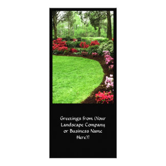 Rich Landscape Lawn Care Business Rack Card Design