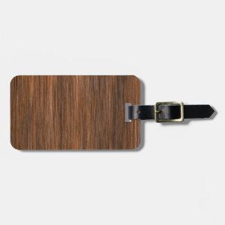 Rich Multigrain Cottage Wood Luggage Tag