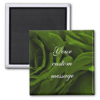 Rich olive green velvety roses flower photo magnet