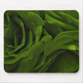 Rich olive green velvety roses flower photo mouse pad