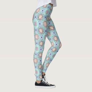Rich Pastel Boho LEGGINGS