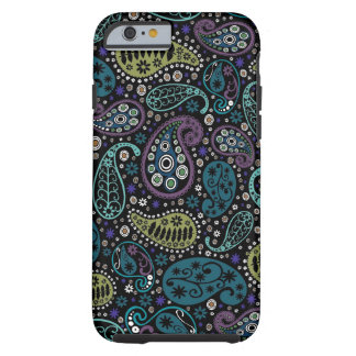 Rich Peacock Colors Paisley Pattern Tough iPhone 6 Case