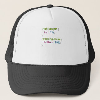 Rich people and working class trucker hat
