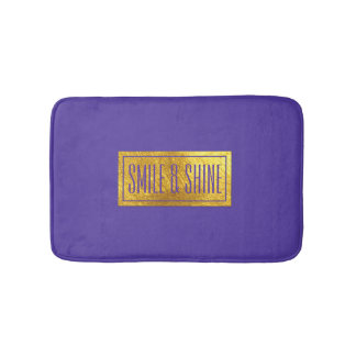 Rich Purple and Gold Tone Bath Mat
