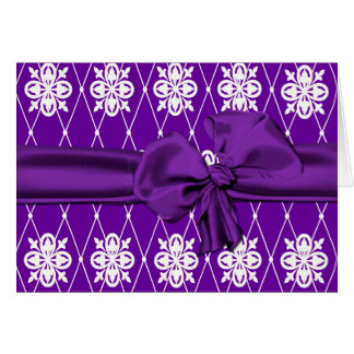 Rich Purple and White Thank You Card
