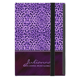 Rich Purple Cheetah Animal Print iPad Mini Covers