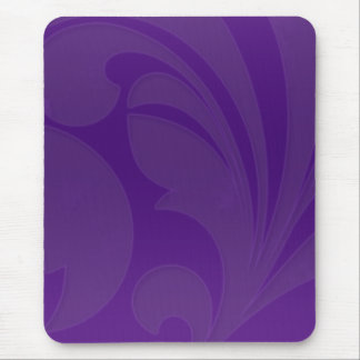 Rich Purple Flourish Mouse Pad