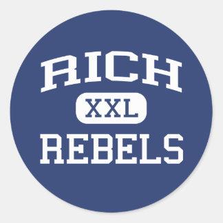 Rich - Rebels - Rich High School - Randolph Utah Round Sticker