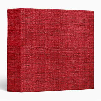 Rich Red Fabric 3 Ring Binders