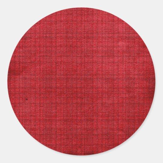 Rich Red Fabric Classic Round Sticker