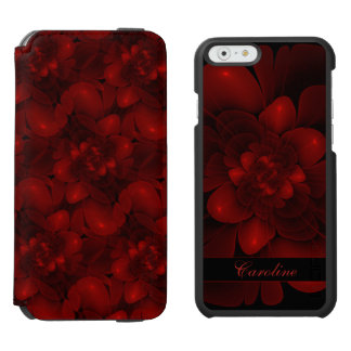 Rich Red Floral Incipio Watson™ iPhone 6 Wallet Case