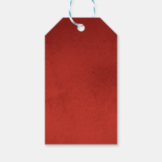 RICH RED GRADIENT BACKGROUND LOVE TEXTURED TEMPLAT PACK OF GIFT TAGS
