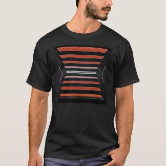 Rich Red n Black Horizontal Stripes T-Shirt