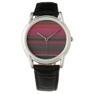 Rich Red Wine Ombre Design Watch
