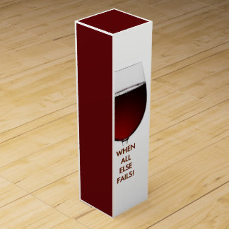 Rich Red Wine photograph with customisable text Wine Box