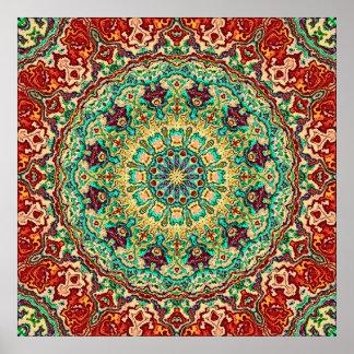 Rich Reds Mandala Poster