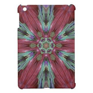 Rich Rose Teal Modern Artistic Pattern iPad Mini Case