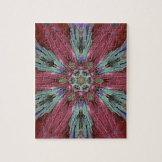Rich Rose Teal Modern Artistic Pattern Puzzle
