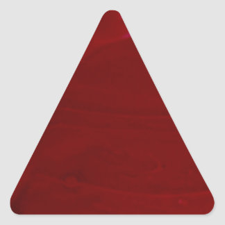 Rich Scarlet Red Frosting Photography Triangle Sticker