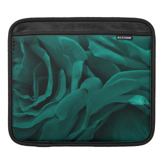 Rich teal blue-green velvety roses floral photo iPad sleeve