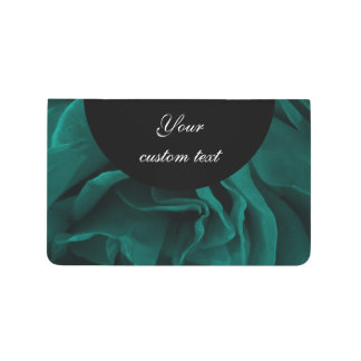 Rich teal blue-green velvety roses floral photo journal