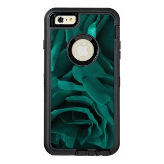 Rich teal blue-green velvety roses floral photo OtterBox defender iPhone case
