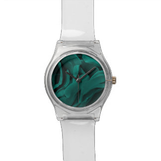 Rich teal blue-green velvety roses floral photo watch