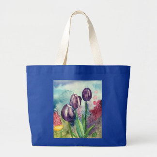 Rich Tulip Garden Large Tote Bag