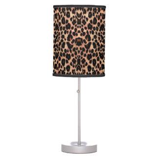 Rich Warm Leopard Animal Print Lamp
