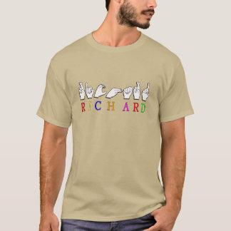 RICHARD  ASL FINGERSPELLED NAME SIGN T-Shirt