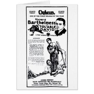 Richard Barthelmess 1922 vintage newspaper film ad Card