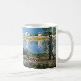 Richard Gallo and His Dog - Gustave Caillebotte Coffee Mug