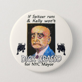 Richard Grasso NYC Mayor 2013 3 Inch Round Button