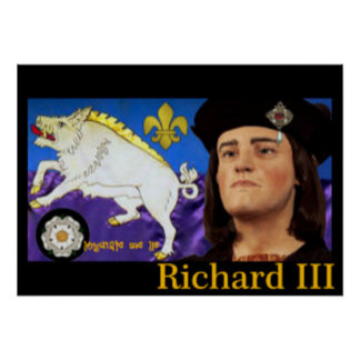 Richard III and his White Boar Emblem Poster