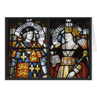 RICHARD III AND QUEEN ANNE OF ENGLAND CARD