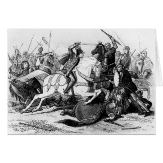 Richard III  at the Battle of Bosworth in 1485 Greeting Card