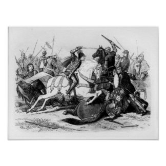 Richard III  at the Battle of Bosworth in 1485 Poster