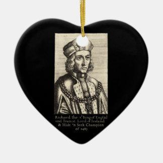Richard III: Hide 'n Seek Champion Ceramic Heart Ornament
