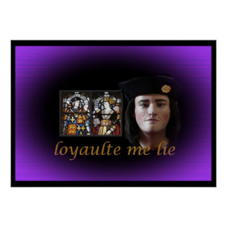 Richard III in royal purple Poster