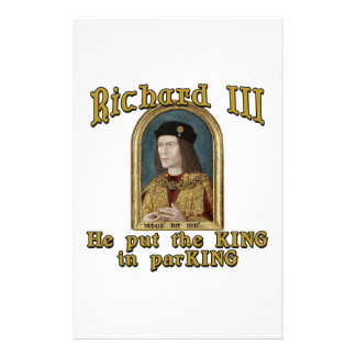Richard III Put the King in ParKING tshirt Personalized Stationery
