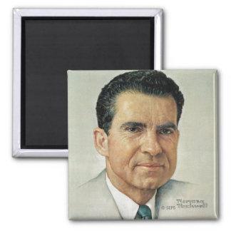 Richard Milhouse Nixon Square Magnet