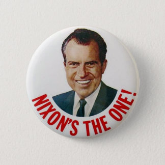 Richard Nixon 1968 Election Campaign Badge 2 Inch Round Button