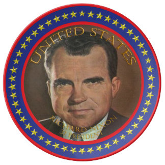 Richard Nixon 37th President Porcelain Plates
