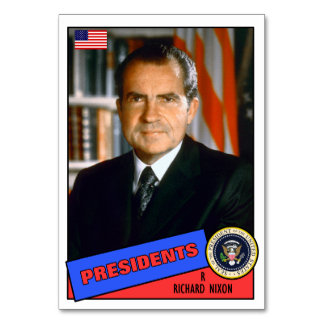 Richard Nixon Baseball Card Table Cards