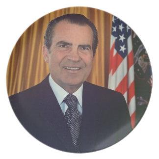 Richard Nixon Party Plate